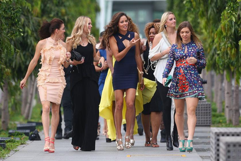 Seksowne tenisistki przed turniejem