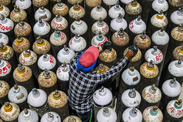 Boce kiseonika u Adžmeru, Indija