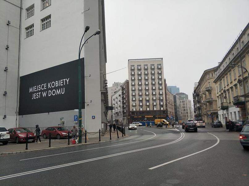 "Billboard w centrum Warszawy promuję nowy sezon ""House of Cards"""
