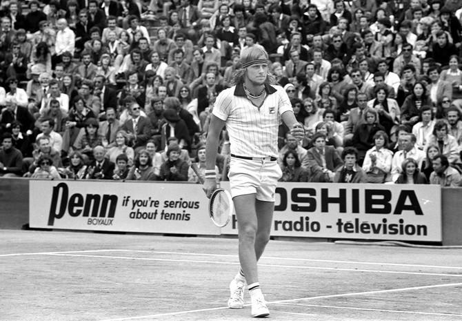 Bjorn Bjorg na terenu 1976. u Parizu