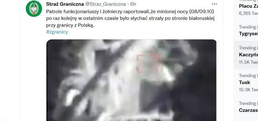 Znów strzały na polskiej granicy! Straż Graniczna opublikowała też wiele mówiące nagranie