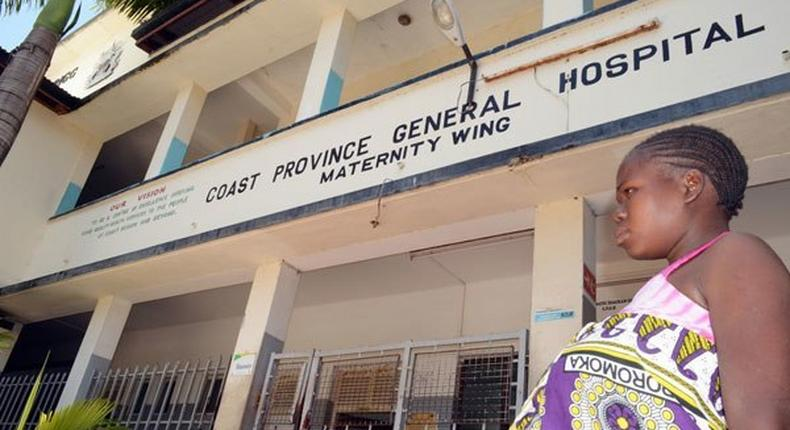 An expectant woman the Coast General Hospital on September 6, 2014. A 15-year-old pupil gave birth outside a private hospital in Mombasa on Wednesday soon after being turned away at the public hospitals due to the ongoing doctors' strike.
