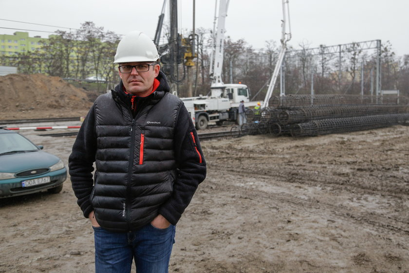 Jarosław Łukasiewicz (39 l.), kierownik budowy z firmy Intop