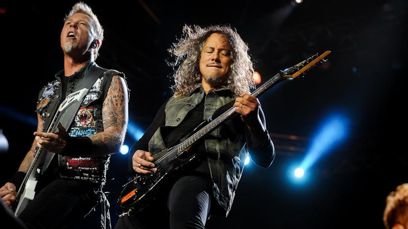 Metallica na festiwalu Sonisphere 2012 w Warszawie (fot. Artur Rawicz / Onet)