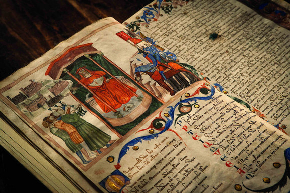 Pismo kojim kardinal Žil de Alborno polaže zakletvu vernosti papi Inočentiju VI