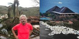 To zostało z wyspy Richarda Bransona. Naprawdę przykry widok...