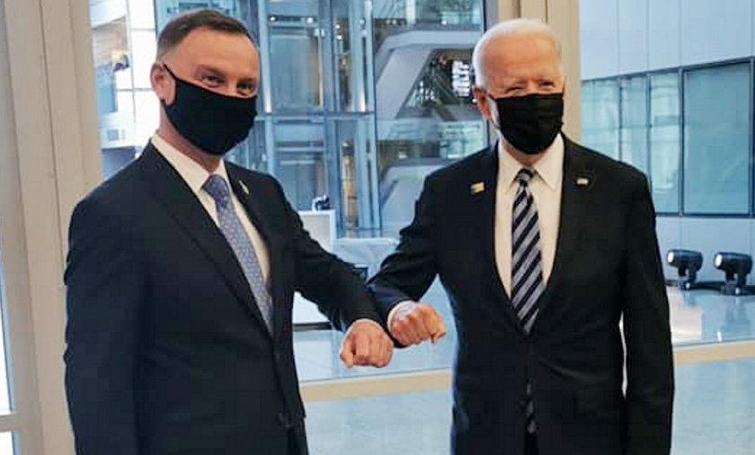 Andrzej Duda i Joe Biden.