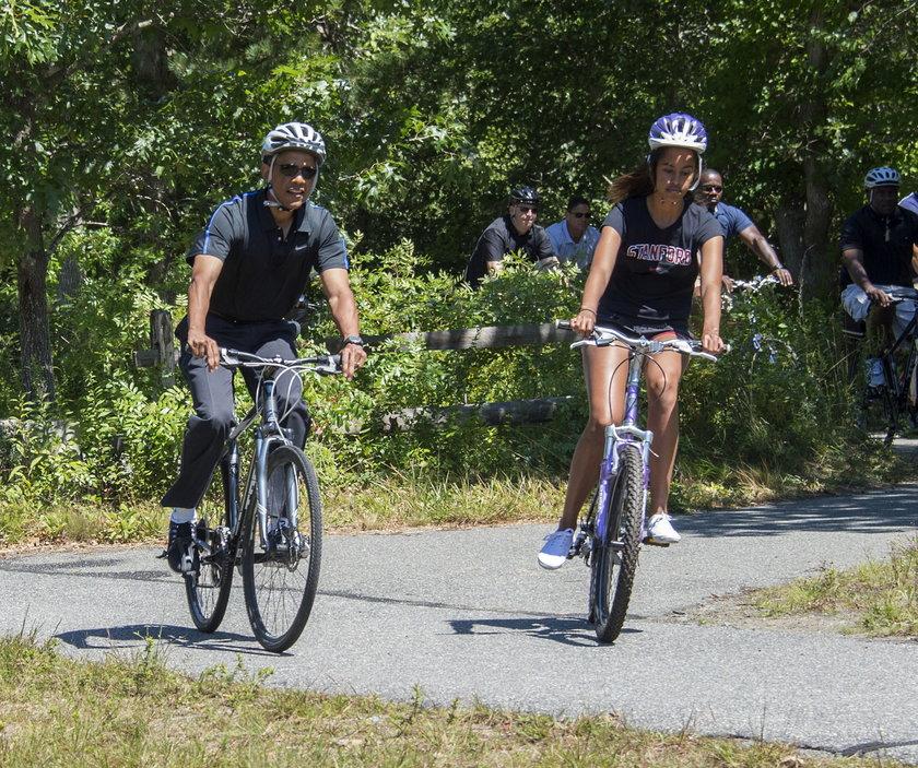 Prezydent USA, Barack Obama z córką Malią