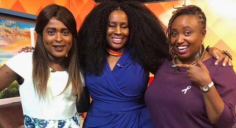Shaniqwa with Mary Mwikali and a guest