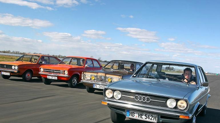 Te wspaniałe lata siedemdziesiąte: Audi 80 GL VW Passat Opel Ascona 1.6 Ford Taunus 1600 GXL