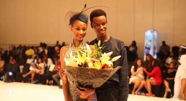 The Elite Model Look Nigeria 2019 winners, Zarad Afia Tashana and Cubahiro Jordy Jeff