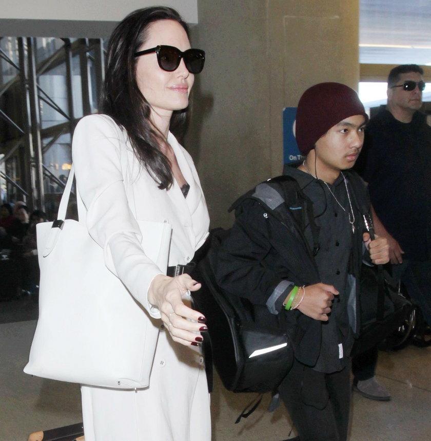 Angelina Jolie z synem Maddoxem
