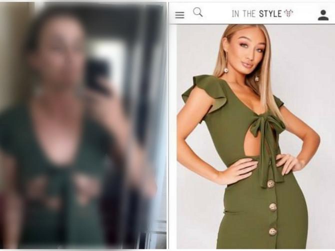 Da li je realno da joj OVDE STOJE BRADAVICE? Slika na kojoj proba haljinu koju je poručila sa interneta kruži mrežama i ljudi UMIRU OD SMEHA