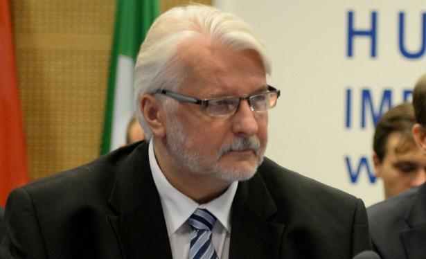 """Szef dyplomacji skomentował w ten sposób słowa prezesa PiS Jarosława Kaczyńskiego, który w przemówieniu podczas niedzielnych obchodów 89. miesięcznicy smoleńskiej stwierdził, że """"będziemy mieli taką Polskę, że nikt nam nie narzuci woli z zewnątrz"""""""