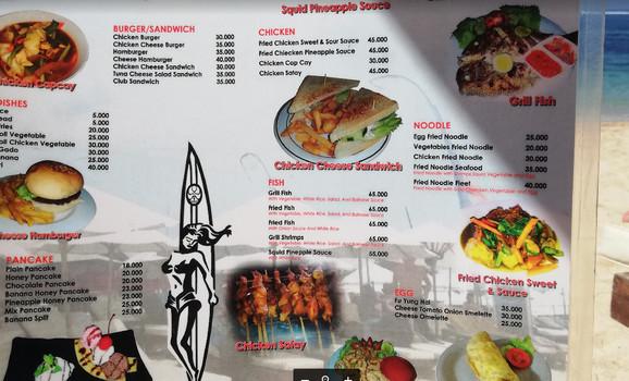 Cene u restoranu na samoj i skupljoj plaži