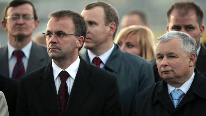 Jarosław Sellin i Jarosław Kaczyński