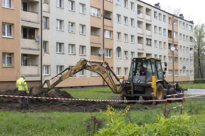 Pierwsze prace ziemne przy budowie drogi pozarowej