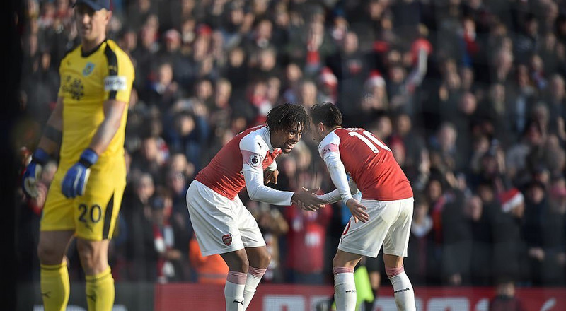Alex Iwobi scores 2nd Premier League goal of the season in Arsenal's win against Burnley