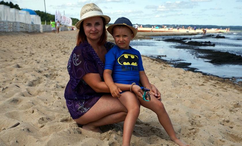 Magdalena Michalik (36 l.) z synem Maksymilianem (4 l.), turyści z Rzeszowa