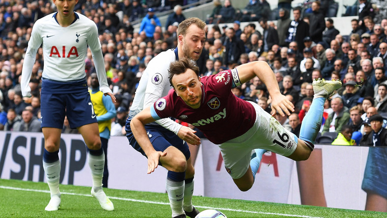 Christian Eriksen i Mark Noble