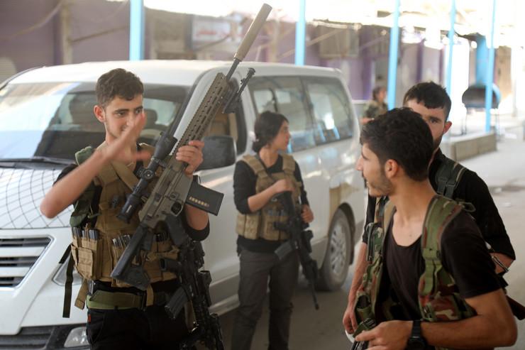 Pripadnici kurdskih Sirijskih demokratskih snaga