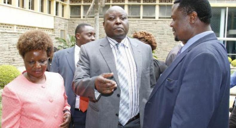 File image of Rachel Ameso, Nakuru Town West MP Samuel Arama and Sirisia's John Waluke