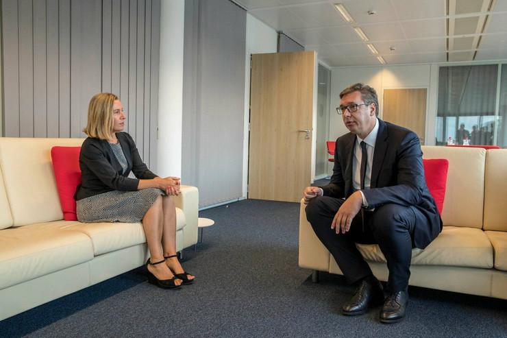 Federika Mogerini i Aleksandar Vučić