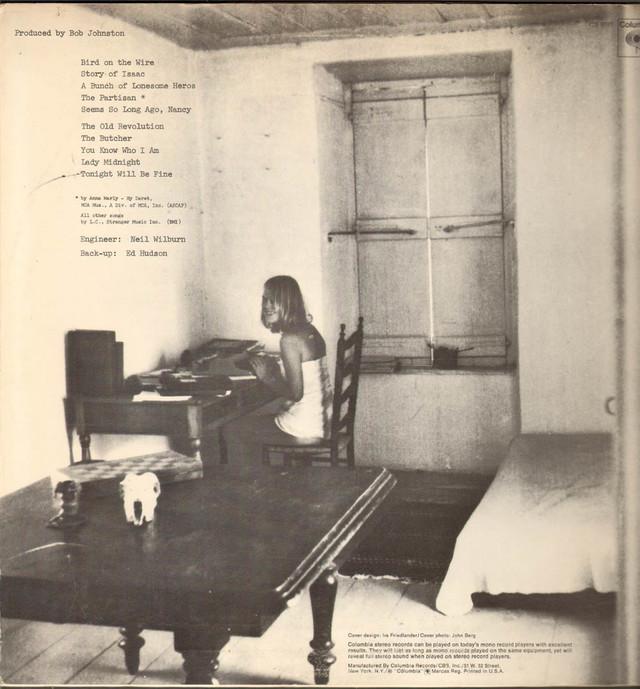 Zadnja strana albuma Songs from a Room