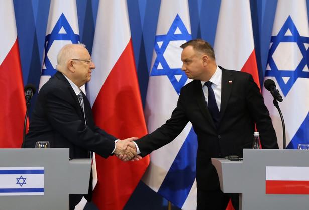 Prezydenci Duda i Riwlin spotkali się w poniedziałek w Oświęcimiu, przed głównymi uroczystościami z okazji 75-lecia wyzwolenia Auschwitz