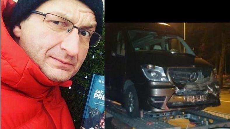 Robert Górski, rozbity samochód Kabaretu Moralnego Niepokoju
