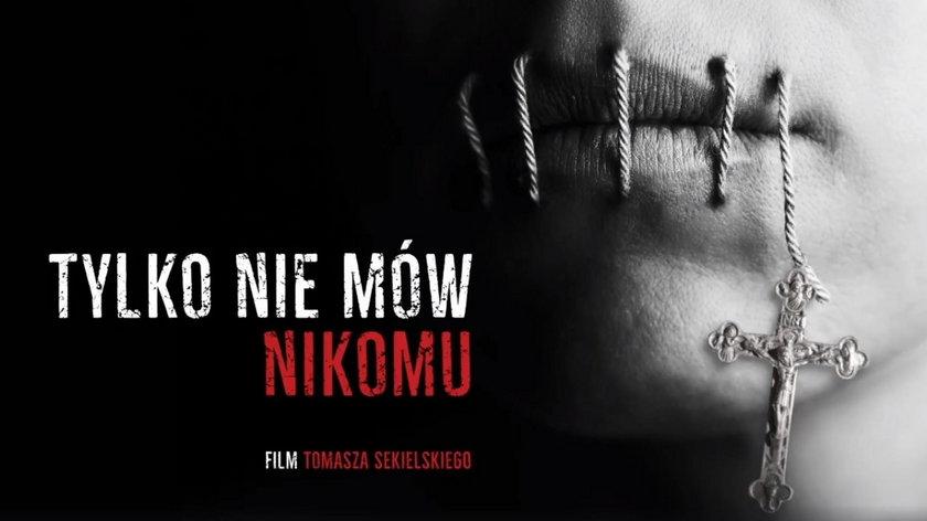 """Plakat filmu """"Tylko nie mów nikomu"""" braci Sekielskich"""