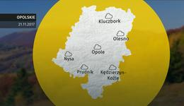 Prognoza pogody dla woj. opolskiego - 21.11