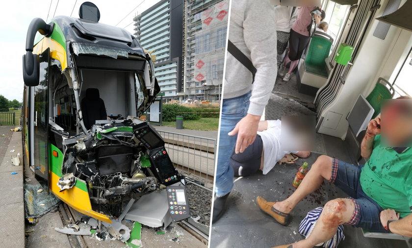 Dramatyczny wypadek tramwajów w Poznaniu.