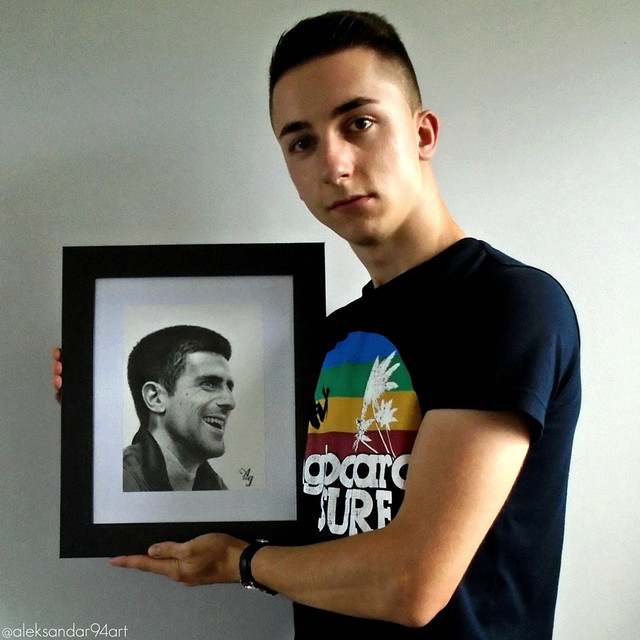 Ništa bez Noleta: Aleksandrov portret Đokovića postavljen je kao bilbord na Novom Beogradu