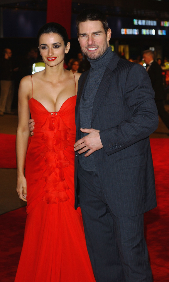 Penelope Cruz i Tom Cruise w 2004 roku