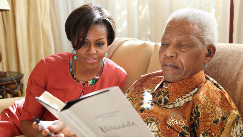 Michelle Obama With Nelson Mandela. (ABC News )