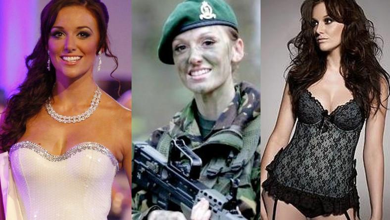 """Starsza szeregowa Hodge, nazywana także """"Combat Barbie"""", walczyła w Afganistanie i Iraku, gdzie została odznaczona medalem za odwagę i okrzyknięta najpiękniejszą żołnierką"""