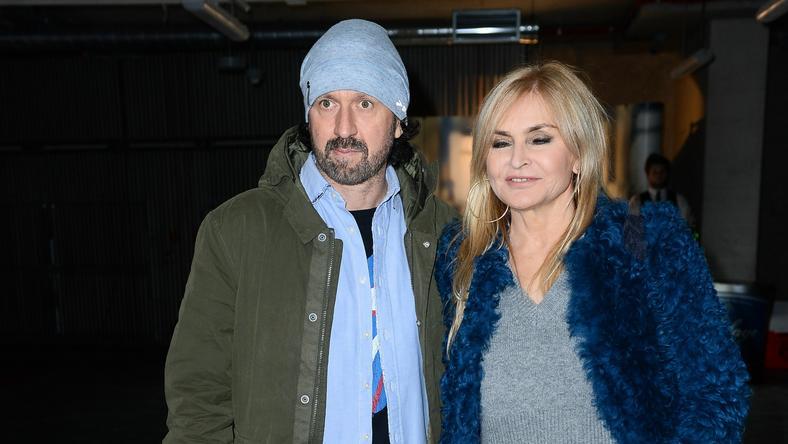 Tomasz Ziółkowski i Monika Olejnik na wernisażu Mateusz Stankiewicza