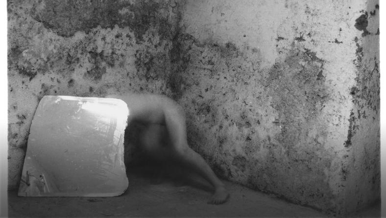 "Francesca Woodman, ""Self-deceit no 5 Rome Italy"", 1978. Courtesy Charles Woodman, and Victoria Miro, London/Venice"