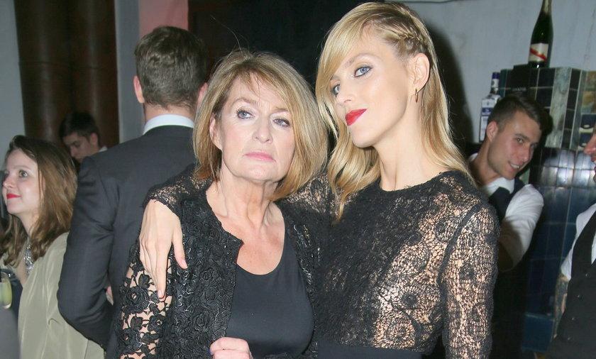 Anja Rubik z mamą