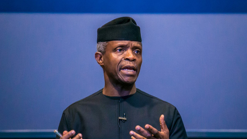 Vice President Yemi Osinbajo says 23,834 traders benefit from Trader Moni in Enugu [Twitter/@Channels]