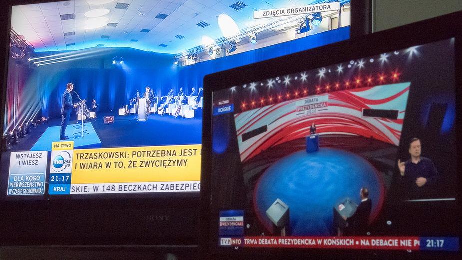 """Wczorajsze """"debaty"""" kandydatów na prezydenta odbywały się niemal równocześnie"""