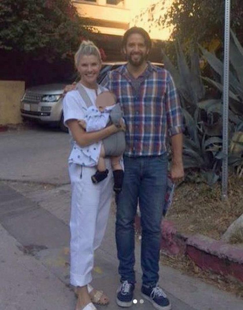 Nick Cordero z żoną i dzieckiem
