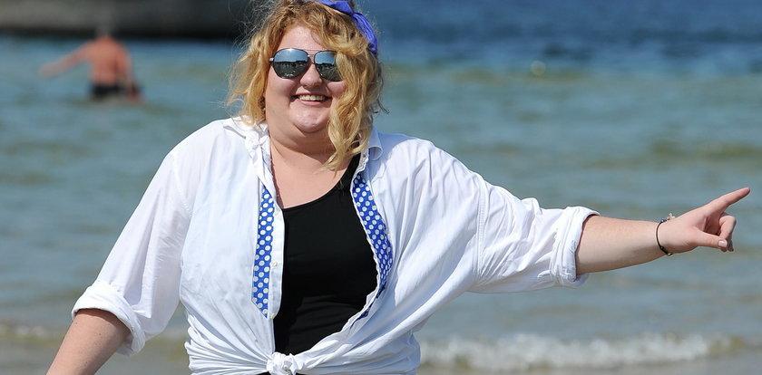 Weronika Grycan w morzu. Sesja na mieliźnie