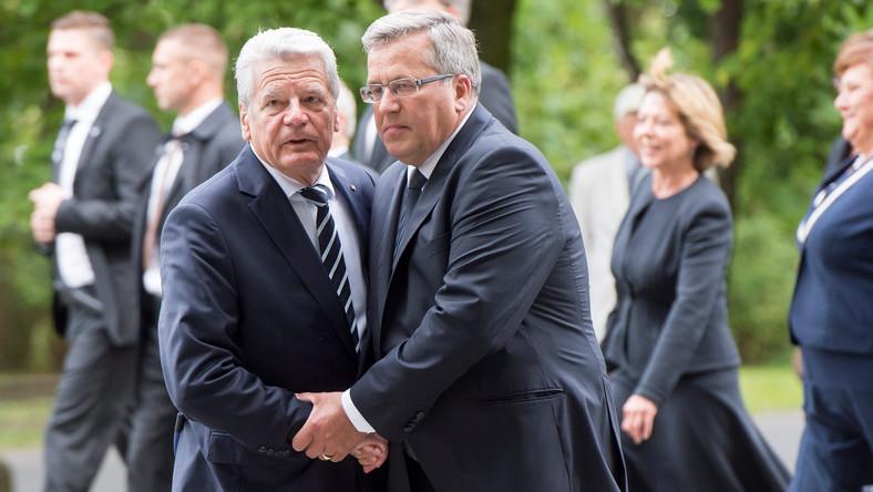 Bronisław Komorowski i Joachim Gauck