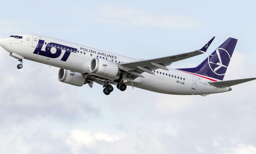 Loty Boeingami 737 MAX 8 realizował m.in. LOT