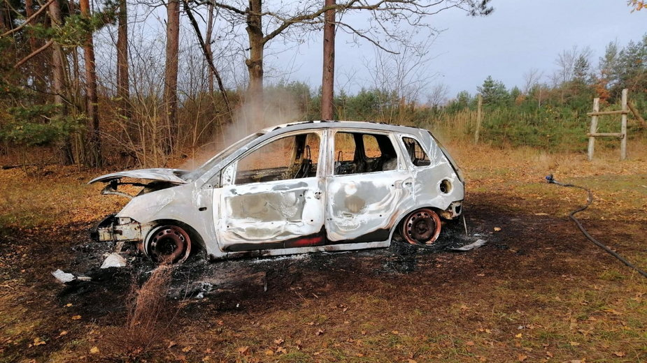 Spalony samochód należał do archeologa