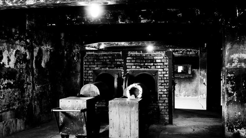 """""""Zwłoki przewożono specjalnymi windami na poziom krematorium. Tam więźniowie Sonderkommando wyjmowali zwłokom złote zęby, kobietom obcinano włosy, a otwory ciał przeszukiwano w celu znalezienia ukrytych kosztowności. Potem zwłoki spalano w rozpalonych piecach"""" - opowiadał SS-Obersturmbannführer Rudolf Höss, komendant Auschwitz. """"Układaliśmy po pięć zwłok"""" - w maju 1945 roku Henryk Tauber, więzień i członek Sonderkommando pracującego w krematorium. """"Najpierw dwoje zwłok zwróconych nogami w kierunku pieca, brzuchami do góry, następnie w odwrotnym kierunku dwoje zwłok. I te zwłoki zwrócone były brzuchami do góry. Piąte zwłoki kładziono nogami w kierunku pieca i grzbietem zwróconym do góry. Ręce tych piątych zwłok opadały w dół i jak gdyby obejmowały wszystkie zwłoki pod nimi leżące. Ponieważ ładunek taki przeważał nieraz ciężar podstawy wózka, wobec tego podtrzymywaliśmy deską koryto od dołu, aby wózek nie przechylił się i zwłoki nie spadły. Tak naładowane koryto wpychaliśmy do retorty. Gdy zwłoki znajdowały się już w piecu, przytrzymywaliśmy je blaszanym pudłem przesuwalnym wzdłuż koryta, a inni więźniowie wyciągali wózek spod zwłok. Specjalny uchwyt na końcu koryta porywał ów suwak-pudło. Następnie zamykaliśmy drzwi""""..."""