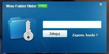 Wise Folder Hider - główne hasło, fot. własne