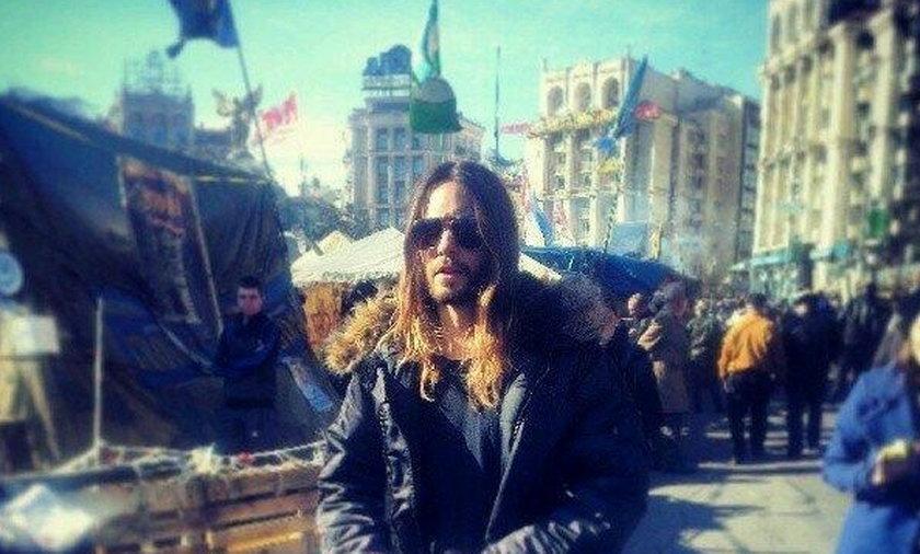 Jared Leto złożył kwiaty na Majdanie
